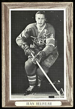1964-1967 BEEHIVE GROUP III 3 JEAN BELIVEAU EX+ MONTREAL CANADIENS HOCKEY PHOTO