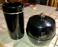 Retro Insulex Black & Gold Ice Bucket & Wine Cooler