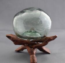 """VTG Japanese Glass Fishing Float, MISSHAPEN, 3.02"""" Diameter, 5 DAY AUCTION"""