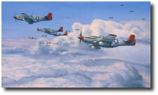 Fighting Red Tails by Robert Taylor - P-51 Mustang -  WWII - Aviation Art Decor