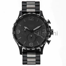 Fossil Original JR1527 Men' Nate Black & Smoke Stainless Steel Watch 50mm Chrono