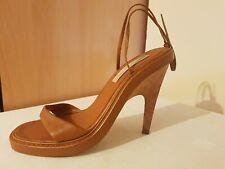 Gorgeous Stella McCartney High Heel Wooden Women's Sandals Beige Size 40