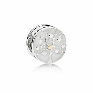 Genuine Sterling Silver PANDORA FAMILY TREE HEARTS Charm 792106EN23 ALE