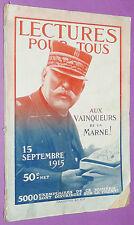 LECTURE POUR TOUS 1915 GUERRE 14-18 BATAILLE DE LA MARNE DUCHESSE SUTHERLAND