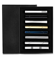 8 Piece Tie Clip Bar Set