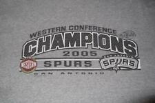 T-SHIRT San Antonio Spurs 2005 Western Conference Champions XL Adult Gray #18