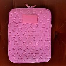 Marc Jacobs Ipad Cover Clutch Quilted Soft Case Zip around Pink Fuchsia Wallet