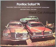 1974 Pontiac Grand Safari, Catalina, Laurentian, LeMans, Astre Brochure