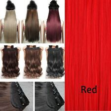 100% Natural 5 Clips On Hair Extensions Double Weft One Piece Hair Extension fkc