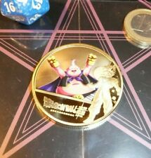 DRAGON BALL Z GT DBZ DBS GOLD METAL COIN CARD CARTE SHENRON BILLET BOUBOU MINT