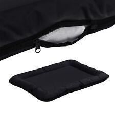 [en.casa]® Panier pour chien avec zip 80x60cm Noir lit animal panier couverture