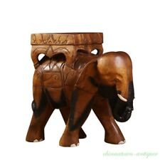 Thailand Hand Carved Wood Stool Chair Zen Seat Zazen Chair Elephant Shapes #2645