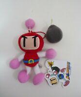 "Bomberman Red Kurobon Konami SK Japan Keychain Mascot Plush 4.5"" Toy TAG Doll"