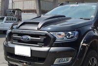 FORD RANGER T6 XLT PX MKII PX2 15 FRONT MATTE BLACK BONNET SID HOOD VENT COVER