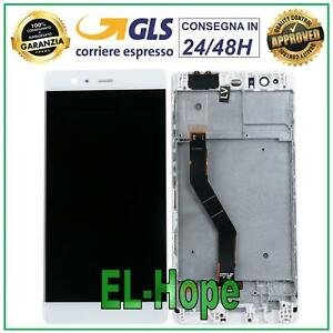 DISPLAY LCD FRAME HUAWEI P9 PLUS VIE-L09 TOUCH SCREEN SCHERMO VETRO FRAME BIANCO
