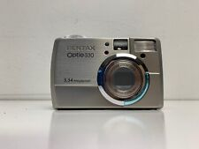 Pentax Optio 330 Digital Camera 3.34 MP w/ Charger D-BC2 Case A2