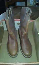 1990 KNAPP Steel Toe Brown Leather Boots Style #368 Size 7 1/2 2E