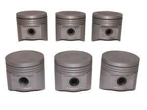 6 NEW Pistons with Pins , 1960-1972 GMC 401 & 401M V6 engines