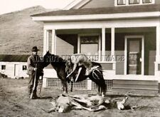 ANTIQUE MULE  DEER HUNTING 8X10 REPRO PHOTOGRAPH SAVAGE MODEL 99 RIFLE
