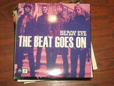 BEADY EYE the beat goes on & four letter word NUMBERED singles FREE shipping