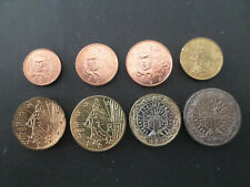 FRANCE  LES  8  PIECES  DE  1  CENT  A  2  EUROS  1999  COTE  55  EUROS