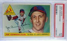 1955 Topps #37 JOE CUNNINGHAM Cardinals PSA NM 7