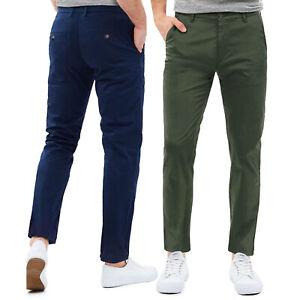 Pantaloni Chino Uomo Slim Fit Cotone Casual Tinta Unita GIROGAMA 8226