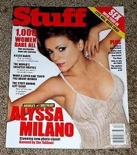 STUFF Magazine December 2001 ALYSSA MILANO Cover Girl NO LABEL