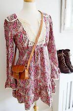 OASIS liberty paisley print DRESS babydoll vintage  60's 1970's boho 16
