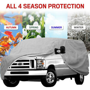 """Full Auto Cover for SUV Truck WaterProof Out Door UV Ray Rain Snow 185""""x72""""x70"""""""