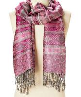 Fashion Scarf Geometric Pink Shawl Wrap Viscose Head Wrap Women Acrylic Shawl