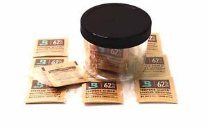 BOVEDA 62% RH (4 GRAM) 10 Pack Overwrapped + CG PET Storage Jar SHIPS FREE