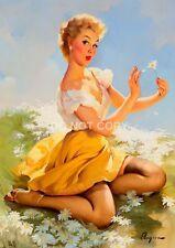 Gil ELVGREN Vintage con PIN UP GIRL A4 lucida arte fotografica POSTER STAMPATI NUOVI #12