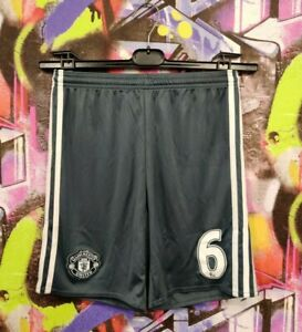Manchester United Paul Pogba #6 Football Soccer Shorts Adidas 2016 Youth size L