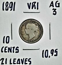 1891 21 Leaves, Canada 10 Cents
