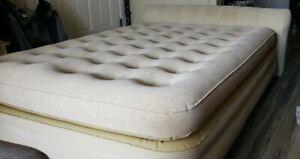 Full mattress AeroBed Luxury Collection Raised Headboard Airbed in Beige