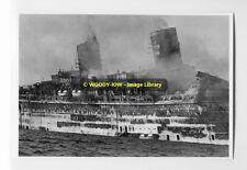rp6907 - Ex Cunards Queen Elizabeth - Seawise University on fire - photo 6x4