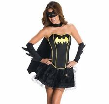 Adult Women's Sexy Superhero Bat Girl Halloween Costume 3pc Outfit Small/Medium