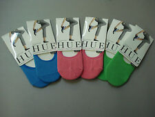 NWT Women's Hue Cotton Sock Liner 6 Pair One Size Multi #1H