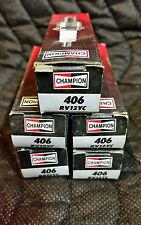 QTY 5, RV12YC 406 CHAMPION SMALL ENGINE SPARK PLUGS, New Old Stock,  Five