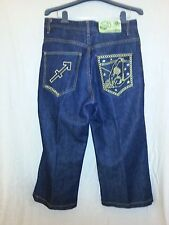 SOUL LAND SoulLand Sagittarius Dark Blue Jeans Size 32 X 22 NWOT