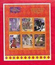 "1996 ""The Hunchback Of Notre Dame"" Souvenir Sheet of 6 Stamps St. Vincent # 2367"