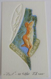 Exlibris Bookplate Erotik von Tamaz Abashidze für Remmerd 14,5 x 8,6 cm (X4023)