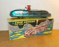 Ancien jouet vintage tin toy - FRANCE JOUETS FJ - CHAR LUNAIRE en boite - 60s