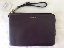 NWT Coach Legacy Leather Wristlet, Black Violet/Purple 63797 (B4BNH) SOLD OUT!!!