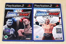 2 PLAYSTATION 2 SPIELE SET - SMACKDOWN VS RAW 2006 & 2007 - PS2 - WRESTLING