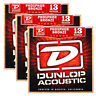 3 Sets Dunlop DAP1356 Phosphor Bronze Medium Acoustic Guitar Strings (13-56)