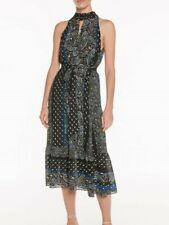 BNWT Size 10 S Trapeze Dress, VERONIKA MAINE, Paisley Stripe VM Womens RR$299
