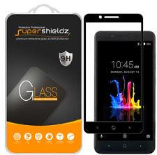 2X Supershieldz ZTE Zmax Pro 2 Full Cover Tempered Glass Screen Protector Black