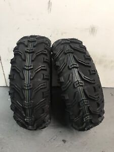 2 x 25/8-12 Kenda Bear Claw 4 Ply 25 8 12 (25x8-12) Road Legal - TWO TYRES